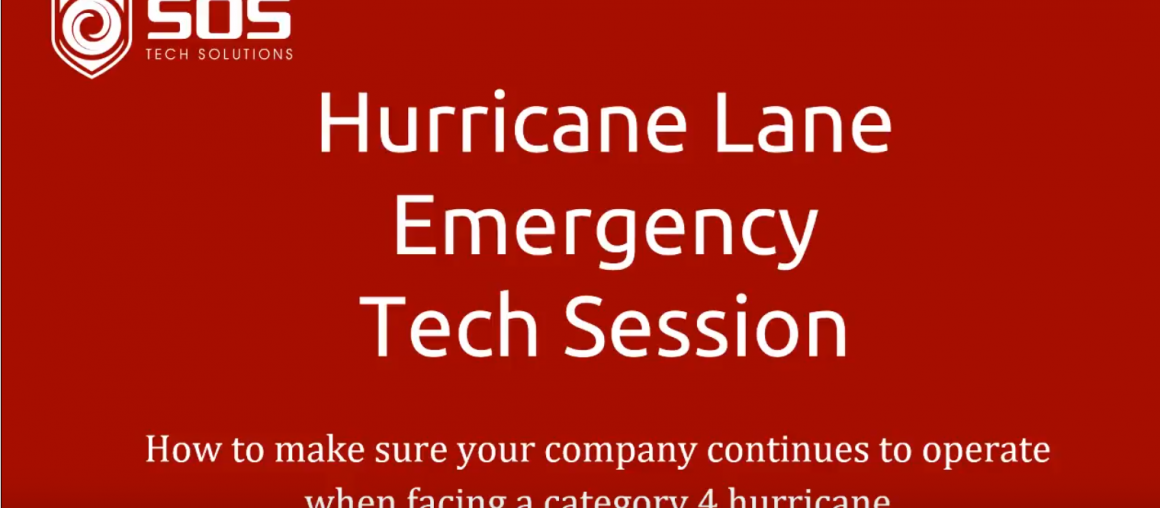 LIVE (replay) Hurricane Lane EMERGENCY Tech Session