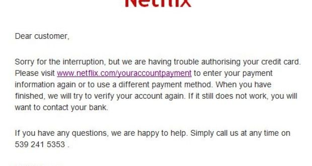 Netflix users targeted in fresh scam looking for updated payment details