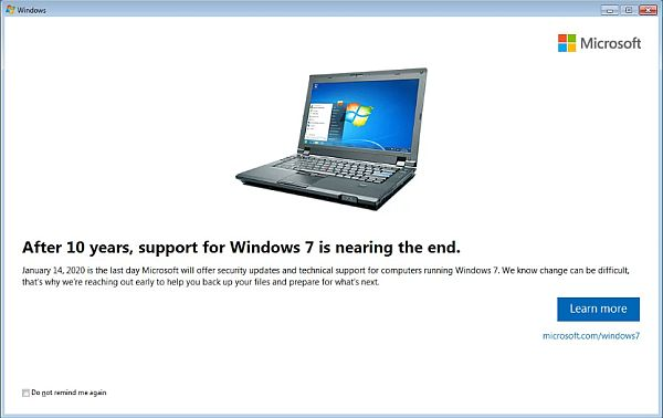 Microsoft shuts the door on Windows 7 in January