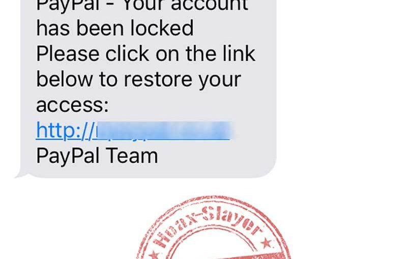 Don't fall for the new PayPal text messaging scam