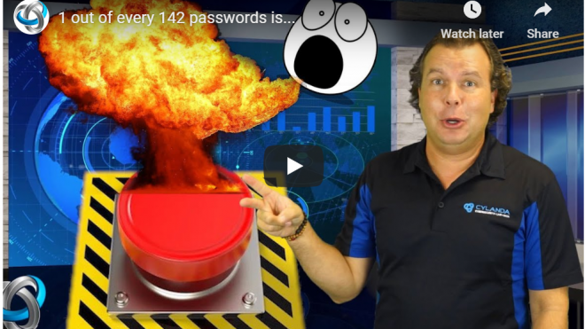 One out of every 142 passwords is…
