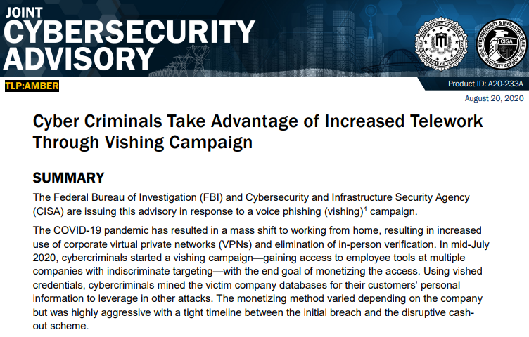 FBI warns businesses of active voice phishing threats