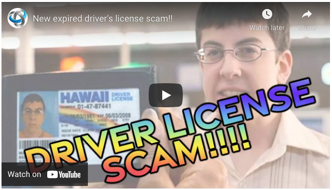 New expired driver's license scam
